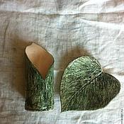 """Для дома и интерьера ручной работы. Ярмарка Мастеров - ручная работа Керамический набор для ванной комнаты """"К осени"""".... Handmade."""