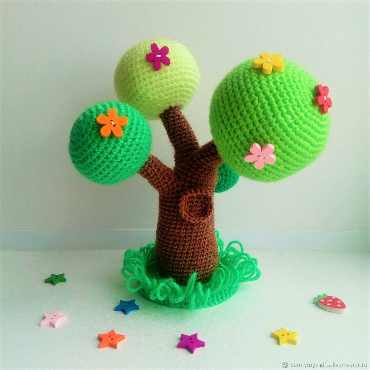 Flowering tree Knitted decorations for puppet theatre, Puppet show, Berezovsky,  Фото №1
