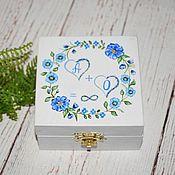 Свадебный салон ручной работы. Ярмарка Мастеров - ручная работа SkyBlue - свадебная шкатулка для обручальных колец. Handmade.