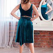 Одежда handmade. Livemaster - original item Tango Dress Turquoise. Handmade.