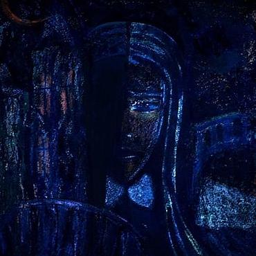 Картины и панно ручной работы. Ярмарка Мастеров - ручная работа Ночь графика пастель тушь. Handmade.