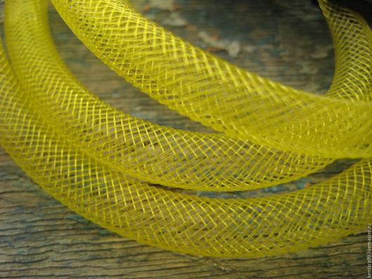 Для украшений ручной работы. Ярмарка Мастеров - ручная работа. Купить Сетка бижутерная жёлтая. Handmade. Желтый, сетка шляпная