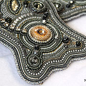Аксессуары handmade. Livemaster - original item Belt wide gray