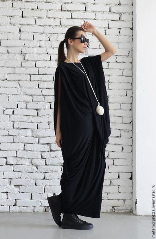 Платья ручной работы. Ярмарка Мастеров - ручная работа. Купить Черное платье, стильное платье. Handmade. Черный