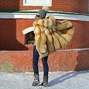 Одежда handmade. Livemaster - original item The fur coat of the Siberian red Fox hooded. Whole plate.. Handmade.