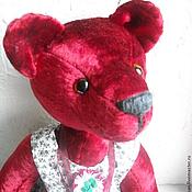 Куклы и игрушки ручной работы. Ярмарка Мастеров - ручная работа Авторская бордовая мишка - тедди ЛУшенька. Handmade.