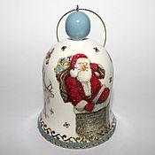 Подарки к праздникам ручной работы. Ярмарка Мастеров - ручная работа Колокольчик новогодний - 5  Новогодние игрушки декупаж. Handmade.