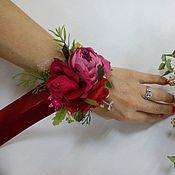 Браслеты ручной работы. Ярмарка Мастеров - ручная работа Браслетики на руку подружкам невесты марсала. Handmade.