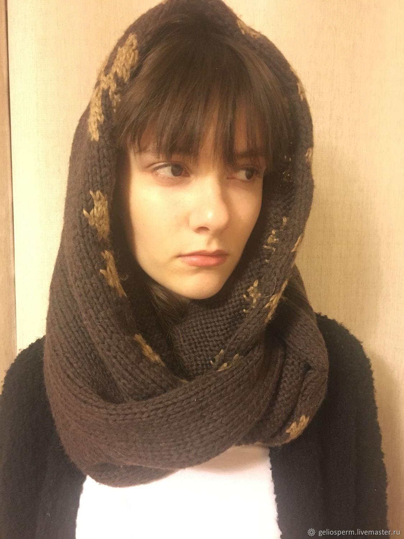 теплый вязаный шарф хомут купить в интернет магазине на ярмарке