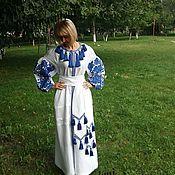 Одежда ручной работы. Ярмарка Мастеров - ручная работа Платье с вышивкой СЖ 85. Handmade.