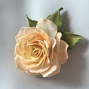 Цветы и флористика ручной работы. Ярмарка Мастеров - ручная работа Брошь Чайная роза. Handmade.