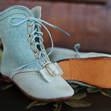 """Куклы и игрушки ручной работы. Ярмарка Мастеров - ручная работа Обувь для Антикварной и современной куклы """"Blue ice"""". Handmade."""