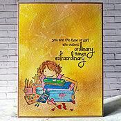 Открытки handmade. Livemaster - original item !The handmade card, motivator, Creative girl. Handmade.