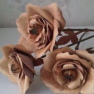 Цветы и флористика ручной работы. Ярмарка Мастеров - ручная работа Роза махровая. Handmade.