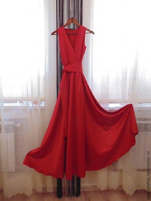 Шелковое платье с юбкой полусолнце