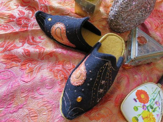 Валяные тапочки. Ярмарка мастеров - ручная работа. Handmade. Купить валяные тапочки `Восточные грёзы`. Тапочки валяные купить. Ручная работа.