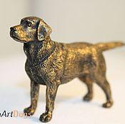 Для дома и интерьера ручной работы. Ярмарка Мастеров - ручная работа ЛАБРАДОР - статуэтка (оловянная миниатюрная фигурка собаки). Handmade.