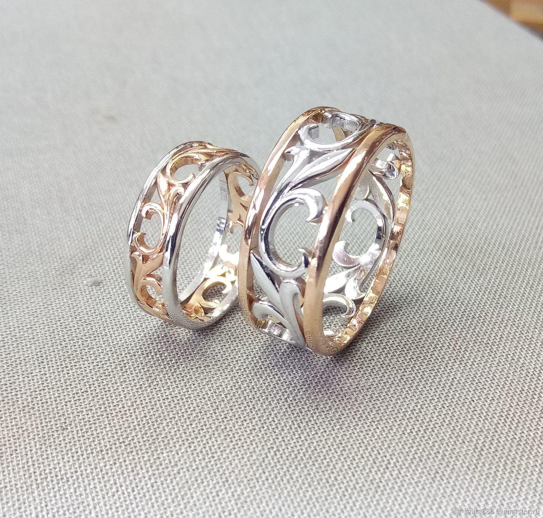 Обручальные кольца из комбинированного золота, Кольца, Москва,  Фото №1