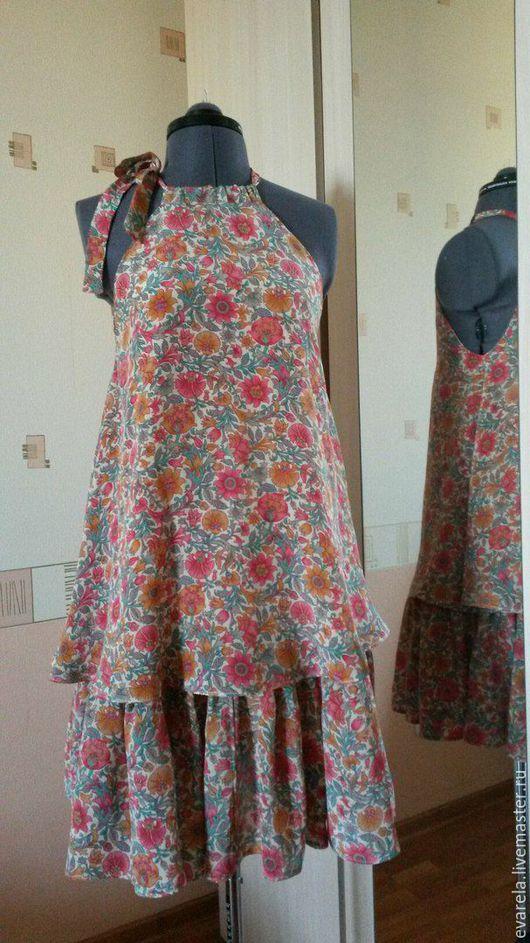Платья ручной работы. Ярмарка Мастеров - ручная работа. Купить Воздушный сарафан из шелка. Handmade. Бежевый, сарафан летний, вискоза