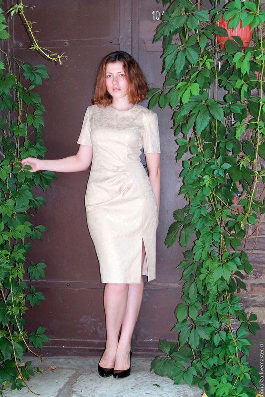 """Платья ручной работы. Ярмарка Мастеров - ручная работа. Купить Ретро платье в стиле 50-х """"Одри"""" беж. Handmade."""