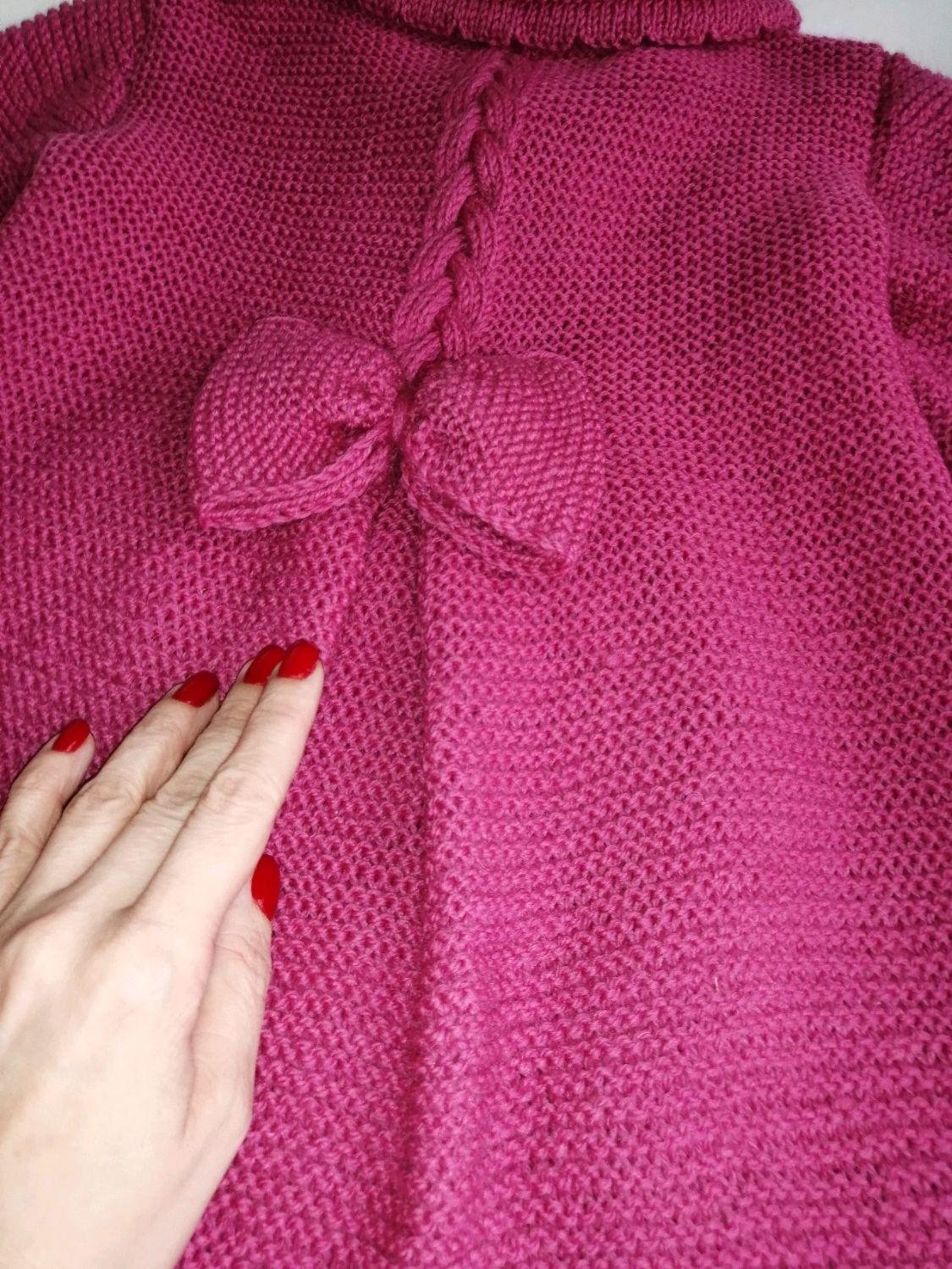 Вязаное пальто. Нарядное пальто для девочки, Верхняя одежда, Ростов-на-Дону,  Фото №1