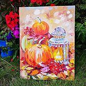 Картины и панно handmade. Livemaster - original item Gifts of autumn - oil painting. Handmade.