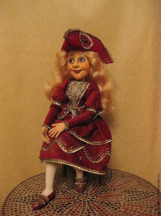 Коллекционные куклы ручной работы. Ярмарка Мастеров - ручная работа. Купить Кукла Франсуаза.. Handmade. Ярко-красный, эксклюзивный подарок
