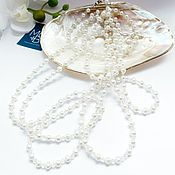 Украшения handmade. Livemaster - original item Necklace made of natural pearls and topaz. Handmade.