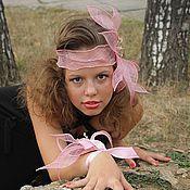 """Аксессуары ручной работы. Ярмарка Мастеров - ручная работа Ретро-повязка """"Розовая мечта"""". Handmade."""