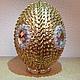 Подарки на Пасху ручной работы. яйцо пасхальное золотое. Баба Света. Интернет-магазин Ярмарка Мастеров. Яйцо, пасхальное яйцо