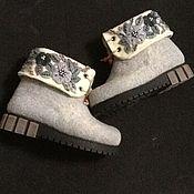 Обувь ручной работы handmade. Livemaster - original item Shoes-chuni with embroidery .. Handmade.
