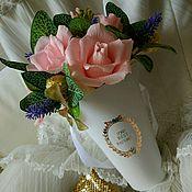 Свадебный салон ручной работы. Ярмарка Мастеров - ручная работа Букет на свадьбу, подарок молодожёнам, пастель, начальнице, годовщину. Handmade.