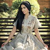 Одежда handmade. Livemaster - original item Linen floor-length dress