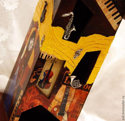"""Кухня ручной работы. Ярмарка Мастеров - ручная работа. Купить Чайный домик """"Джаз"""". Handmade. Комбинированный, домик для чая, для чая"""