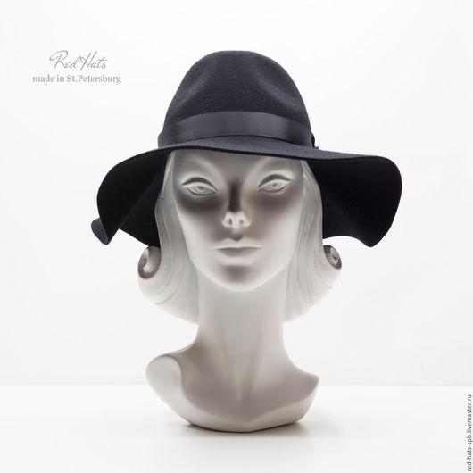 Шляпы ручной работы. Ярмарка Мастеров - ручная работа. Купить Фетровая шляпа Федора с большими полями. Handmade.