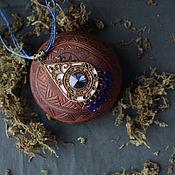 Украшения ручной работы. Ярмарка Мастеров - ручная работа Кулон Dark Blue. Handmade.