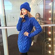 Одежда handmade. Livemaster - original item Women`s long sweater blue (cornflower blue). Handmade.
