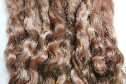 Волосы для кукол (корица, медно-коричневые, натуральные, мытые, расчесанные, вручную окрашенные) Локоны Кудри для кукол Кудри для кукол купить Волосы для кукол купить Handmade Ярмарка Мастеров
