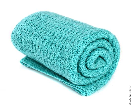 Пледы и одеяла ручной работы. Ярмарка Мастеров - ручная работа. Купить Плед-одеялко. Handmade. Бирюзовый, подарок новорожденному, мальчику