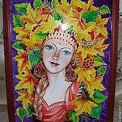 Картины и панно ручной работы. Ярмарка Мастеров - ручная работа Картина  «Девушка-Осень». Handmade.