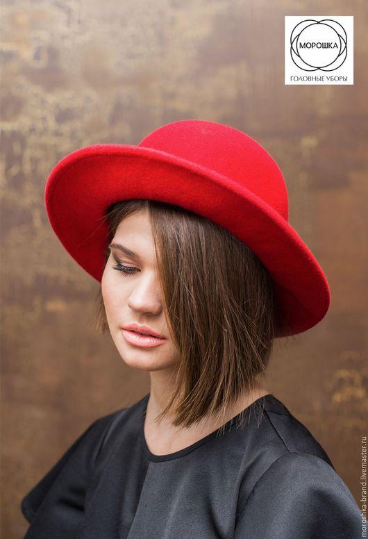 Шляпы ручной работы. Ярмарка Мастеров - ручная работа. Купить Шляпа красная. Handmade. Весенняя мода 2017, однотонный