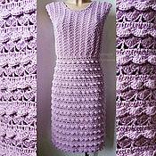 Одежда ручной работы. Ярмарка Мастеров - ручная работа Вязаное ажурное платье. Handmade.