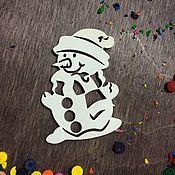 """Сувениры и подарки ручной работы. Ярмарка Мастеров - ручная работа Новогодний декор """"Снеговик"""". Handmade."""