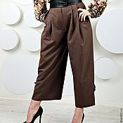 Брюки ручной работы. Ярмарка Мастеров - ручная работа Женские брюки с кожаным поясом. Handmade.