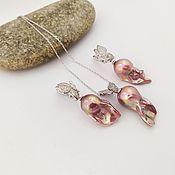 Украшения handmade. Livemaster - original item Butterfly Effect earrings and pendant