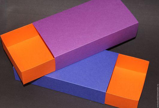 Упаковка ручной работы. Ярмарка Мастеров - ручная работа. Купить Коробочки цветные 22-11,5-5 в наличии 30 штук. Handmade.