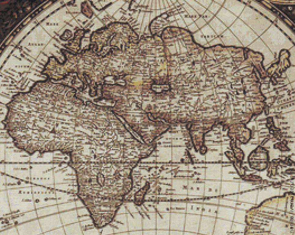 для вышивки `Старая карта`