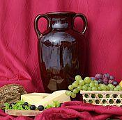 Посуда handmade. Livemaster - original item Ceramic amphora 6 l (40 cm). Handmade.
