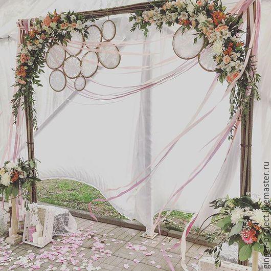 Оформление свадебной арки для выездной регистрации в стиле бохо