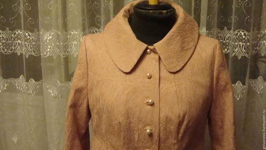 Верхняя одежда ручной работы. Ярмарка Мастеров - ручная работа. Купить Летнее пальто. Handmade. Розовый, хлопок